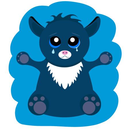 halloween tee shirt: Alien Monster Cat - Stock Vector