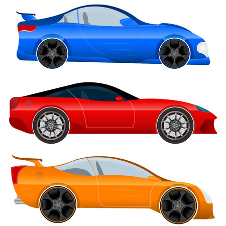 Design a Sports Car and Muscle Car - Stock Vector. Vector