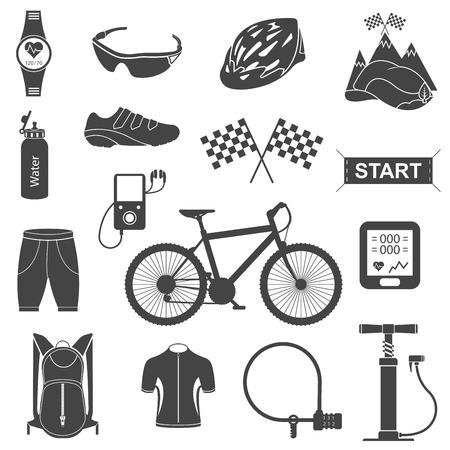 Vélos à disposition. Isolés accessoires vecteur de réglages de la moto. Pièces détachées pour vélo vecteur grands icons set. Image vectorielle. Banque d'images - 33629210