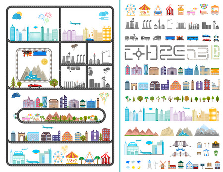 Elements of the modern city - stock vector Vector