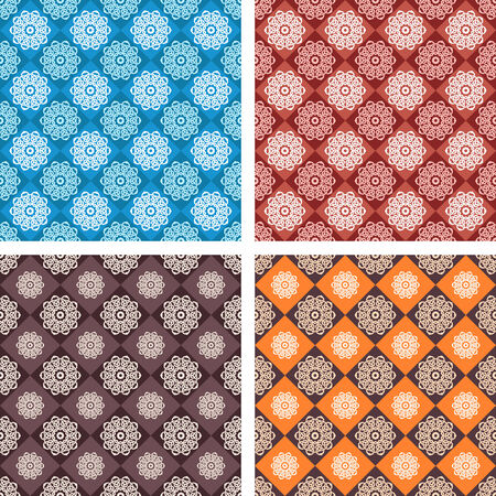 Set of vector seamless geometric pattern Vector