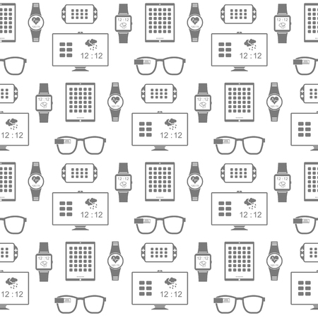 Vector seamless pattern of smart gadgets. Pattern for design Web interfaces or your projects - stock vector. Vector