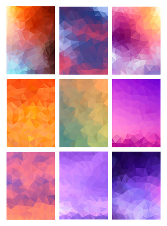 business backgound: Set abstract modern polygonal background for site brochure