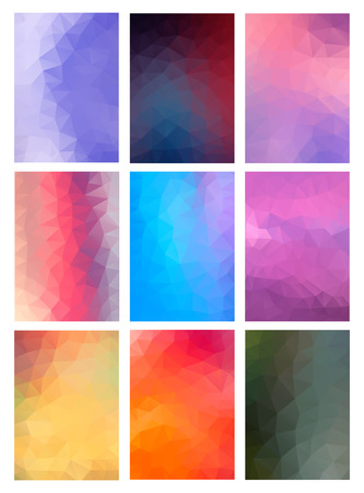 business backgound: Set abstract modern poligonal background for site brochure, banner and covers, made with geometrical shapes to use for posters, book cover, invitation, flyer and advertisement material. Frame for your text