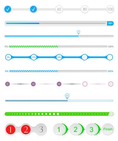 Conjunto de precargadores - para los artículos de carga. Iconos de carga Progress. Descarga de bares de la interfaz web, sitios y aplicaciones móviles - Imagen vectorial Foto de archivo - 40912122