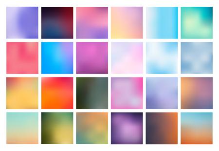 Big ensemble de vecteur floue horizons. La collection couvre pour vos projets. Colored mailles pour des présentations et des projets web. Vecteurs