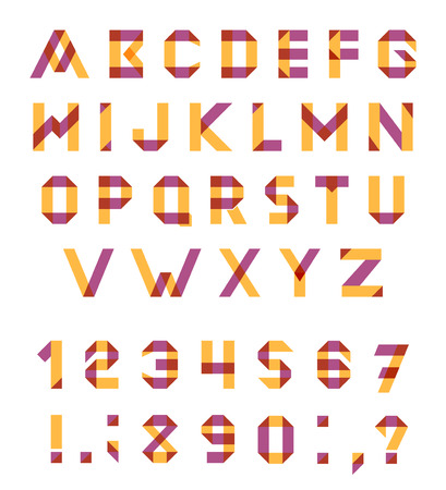 multiplicar: Conjunto del alfabeto de la fuente geométrica diversión. fuente con trazos superpuestos y colores mezclados. Modo de fusión Multiplicar. Vectores