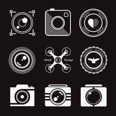photography:  collection of photography templates. Photography vintage and modern badges and photo labels.