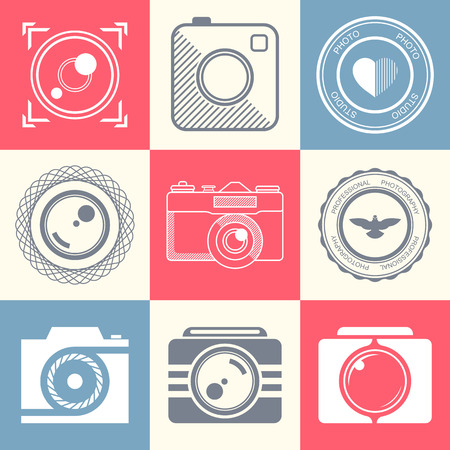 photography logo:   collection of photography logo templates. Photography vintage and modern badges and photo labels.