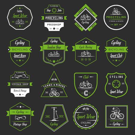 Ensemble de vintage, badges logo moderne et rétro et étiquettes vélo