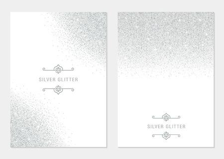 ベクトルは、白地に銀のバナーを設定します。伝票、チラシ、web、vip、証明書、ギフト、ショッピング、そして他の人のカード シルバーとプラチナ