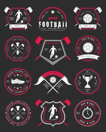 Set of soccer football crests and logo emblem designs.