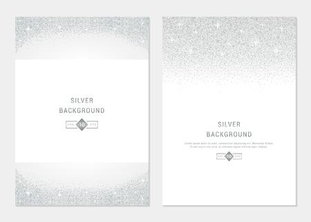 Vector set bannière d'argent sur fond blanc. Argent et cartes de platine pour bon, flyers, web, vip, certificat, cadeau, achats, et d'autres produits haut de gamme.