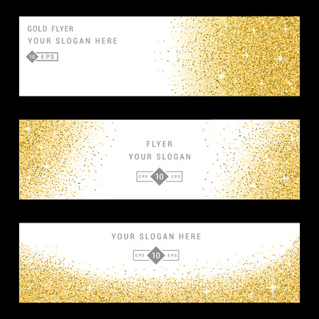 privilege: Vector banners and cards gold sparkles on black background. Gold background text. Banners voucher, store, present, shopping, sale, logo, web, card, vip, exclusive, certificate, gift, luxury, privilege.