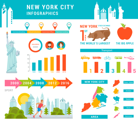central park: Infographics New York City.
