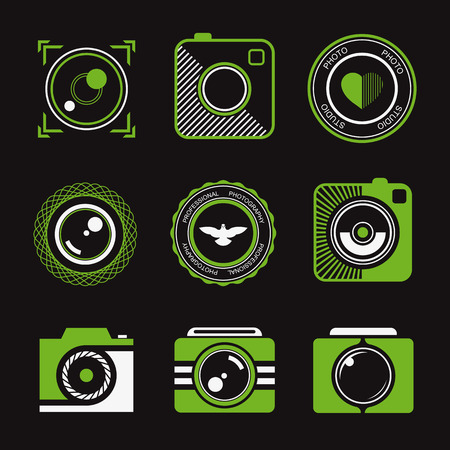 photography logo: Vector collection of photography logo templates.