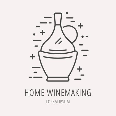 wine making: label Wine making.