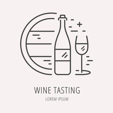 logo ou dégustation Etiquette de vin.