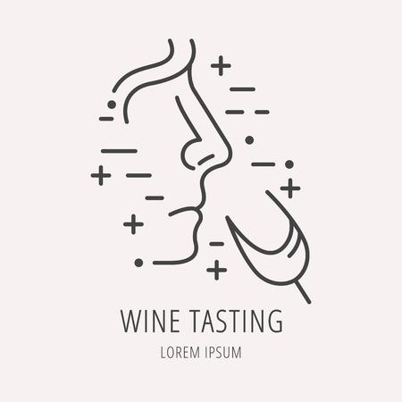 étiquette Dégustation de vin.