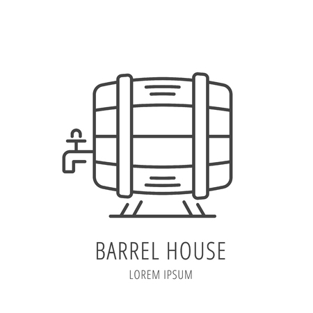 house logo: logo or label barrel house.