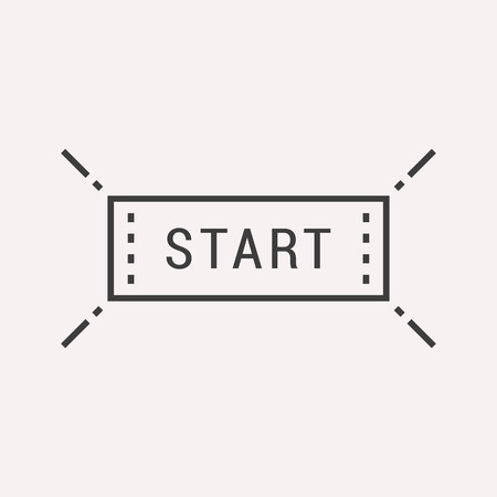 start line: label start. Line style . Easy to use business template. Vector abstract sign or emblem.