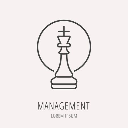 superintendence: Logo or label management. Line style logotype. Easy to use management template. Vector abstract sign or emblem. Illustration