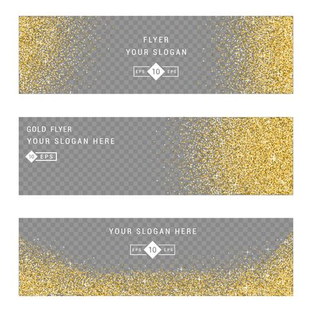 privilege: Vector banners and cards gold sparkles on white background. Gold background text. Banners voucher, store, present, shopping, sale, logo, web, card, vip, exclusive certificate gift luxury privilege Illustration