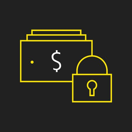 easy money: Logo or label money operations line style logotype. Easy to use money operations template. Illustration