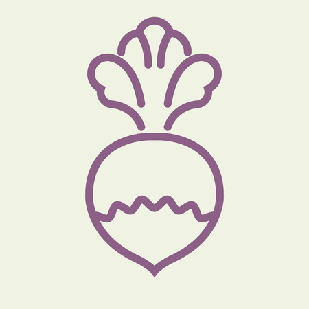 Logo or label turnip. Line style logotype. Easy to use turnip template. Illustration