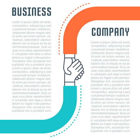 Flat line illustration of business company. Concept for web banners and printed materials.