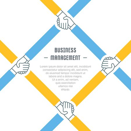 Flat line illustration of business management. Concept for web banners and printed materials. Illustration