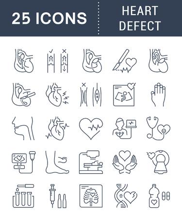 Heart defect icon concept design.