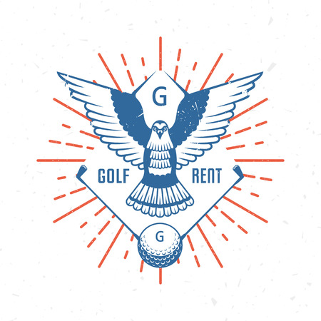 Vector golf logos or emblem. Template for country club, rent, shop and tournaments.
