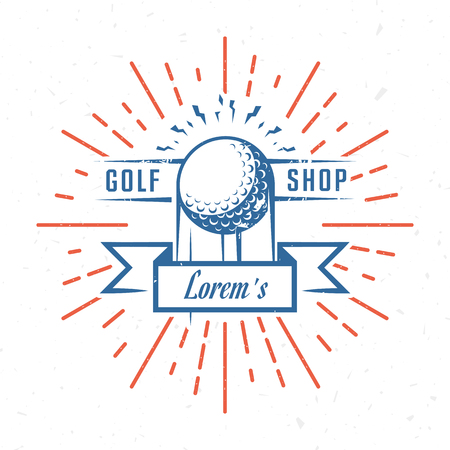Vector golf logos or emblem. Template for country club, rent, shop and tournaments.  Illustration