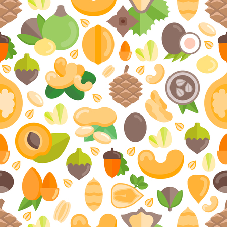 Seamless pattern with nuts. Vector illustration for backgrounds, web and covers.