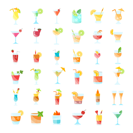 Set illustration of beverages