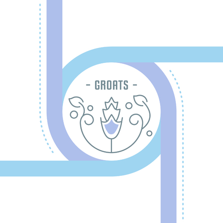 Line illustration of groats. Concept for web banners and printed materials. Template for website banner and landing page. Illustration