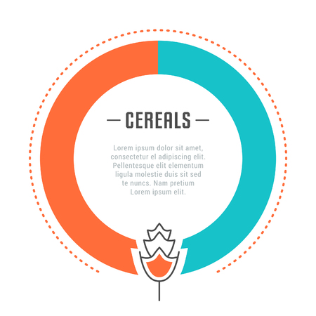 Line illustration of cereals. Concept for web banners and printed materials. Template for website banner and landing page. Illustration