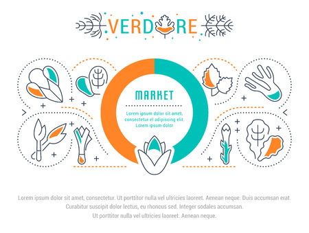 Line illustration of verdure. Concept for web banners and printed materials. Stockfoto - 99055427