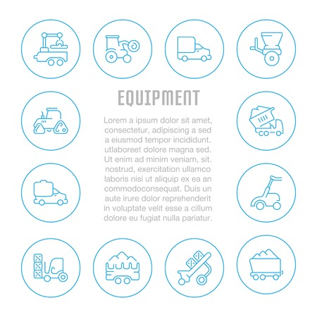 Line illustration of equipment. Concept for web banners and printed materials. Template for website banner and landing page. Illustration