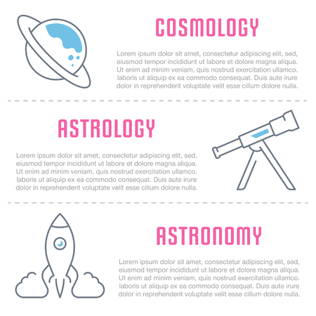 Line illustration of science. Concept for web banners and printed materials. Template for website banner and landing page.