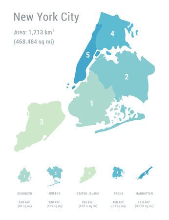 Vector illustration of New York city map.
