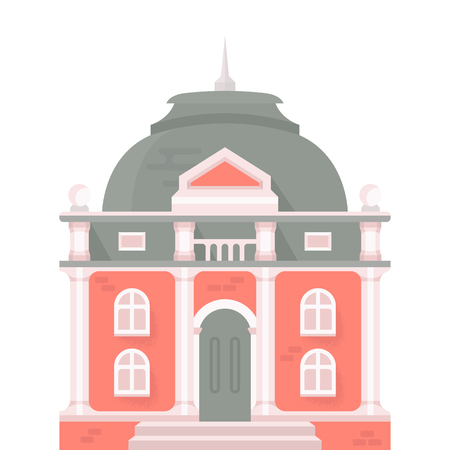 Illustration of Saint-Petersburg building. Vector illustration for web pages, banners, posters and postcards.
