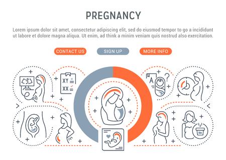 Vektorillustration der Schwangerschaft.