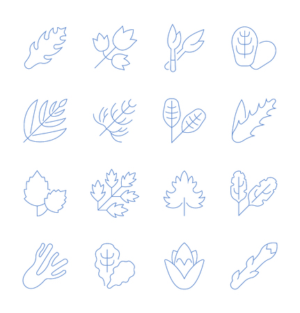 Set of vector line icons, sign and symbols with flat elements of greenery for modern concepts, web and apps. Collection of infographics logos and pictograms. Stockfoto - 108527768