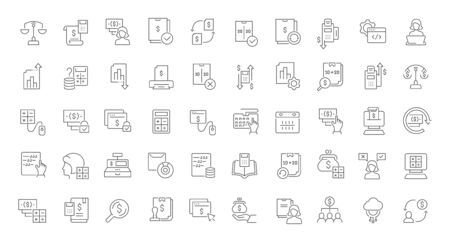 Set of vector line icons of accounting for modern concepts, web and apps. Reklamní fotografie