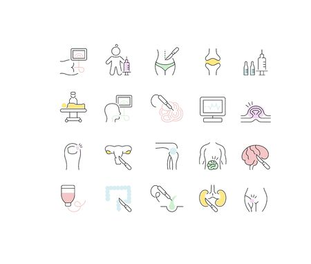 Set of vector line icons of surgery for modern concepts, web and apps.