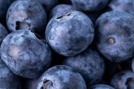 Fresh ripe blueberries closeup. Macro shooting