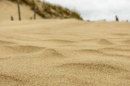 The pattern of the sand for being background or texture