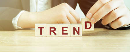 Man made word trend with wood blocks